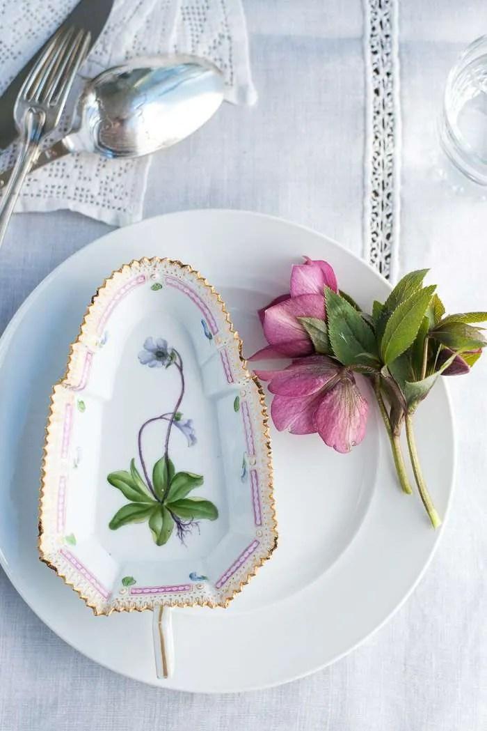 Madplan med aftensmad. Flora danica