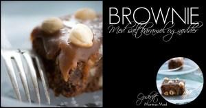 Brownie med karamel og nødder. Opskrift