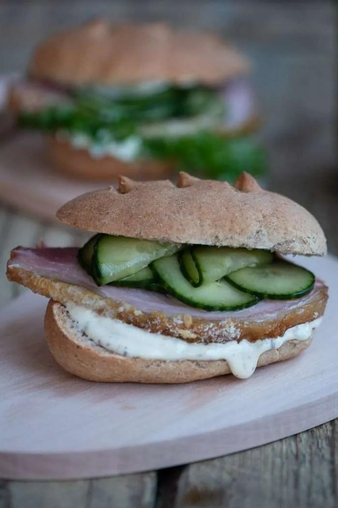 Agurkesalat til sandwich