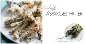 Asparges fritter. ovnbagte. opskrift