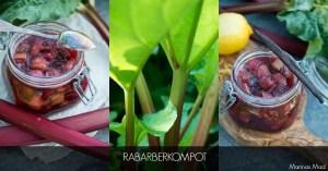 Hjemmelavet rabarberkompot. opskrift