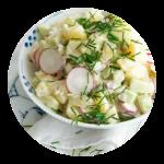 Opskrift på kartoffelsalat