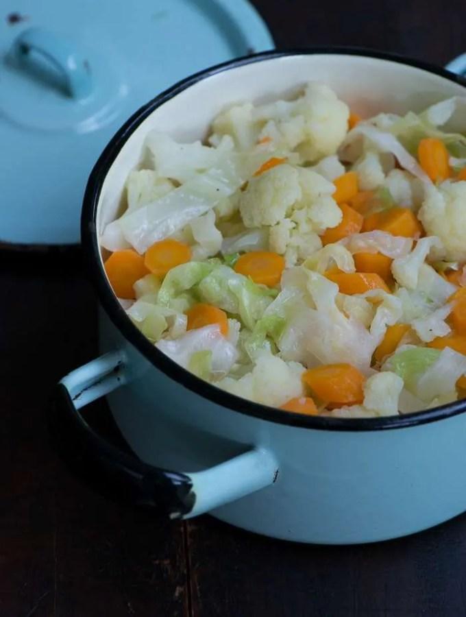 smørdampede grøntsager opskrift