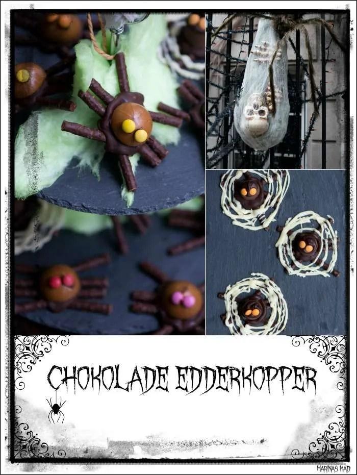 Chokolade edderkopper. Nem opskrift af dansk slik