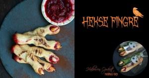 Opskirft på hekse fingre småkager til Halloween