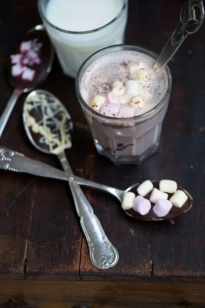 Chokolade på pind eller ske