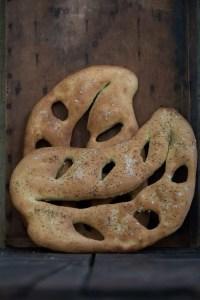 Lækker madbrød. Opskrift på fransk fougasse