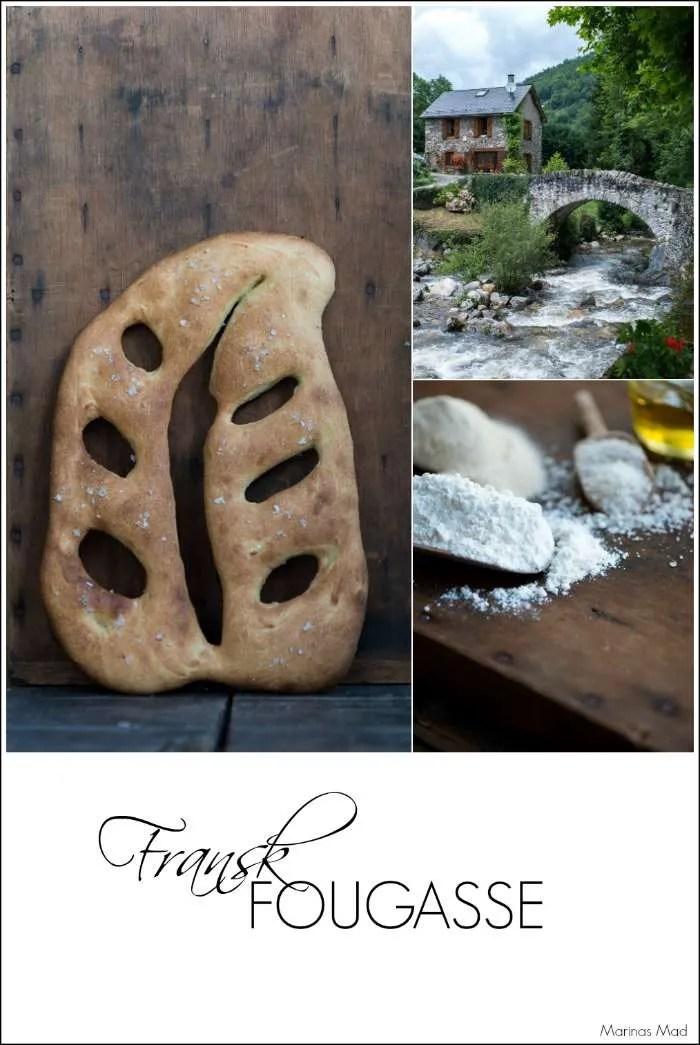 Opskrift på fougasse. Dejligt fransk madbrød