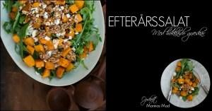 Opskrift på lækker salat med bagt græskar
