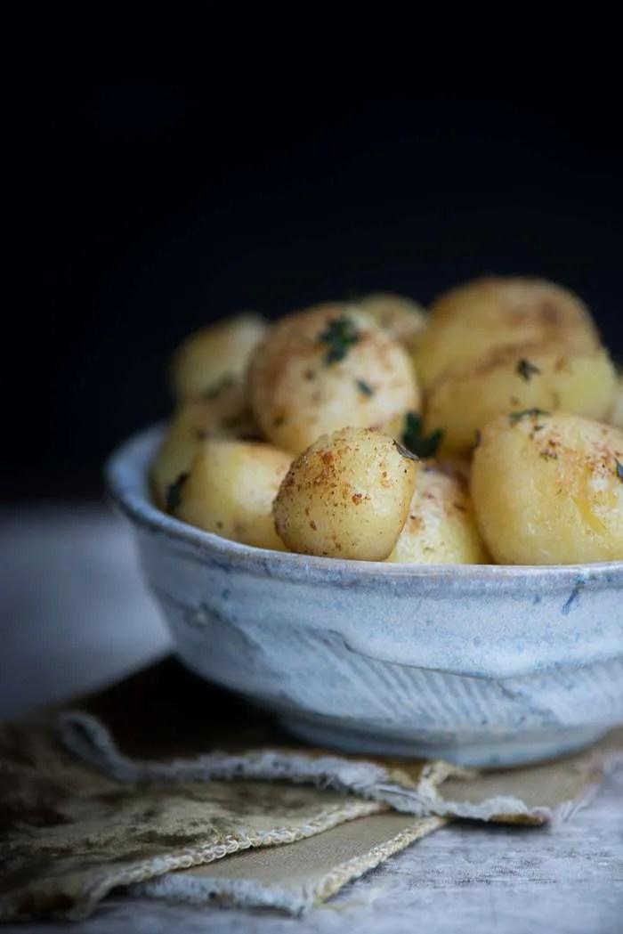 Opskrift på kartofler med svampestøv fra Marinas Mad