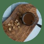 Opskrift på chokoladesovs med peanutbutter. Nem opskrift fra Marinas Mad