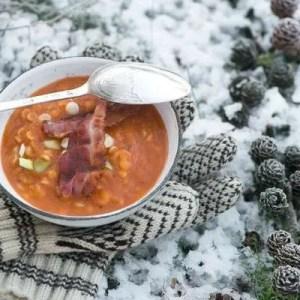 opskrift på tomatsuppe med bacon fra Marinas Mad