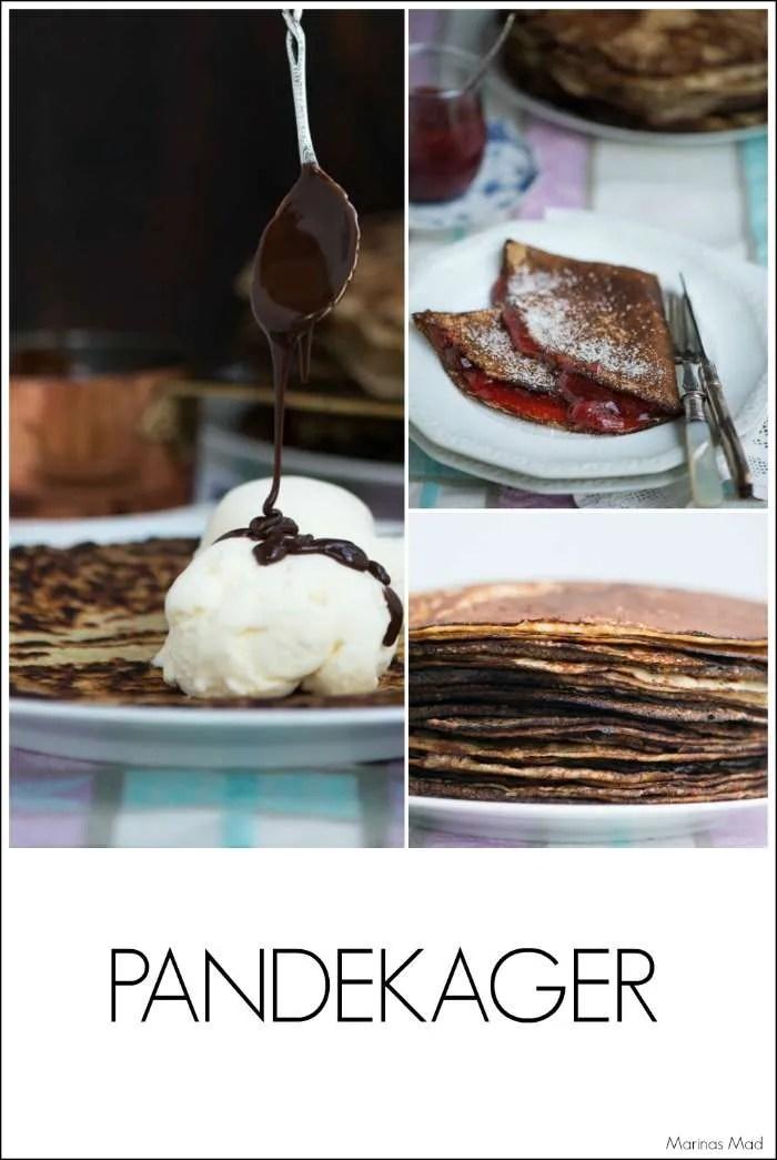 De lækreste dessert pandekager. Server dem med is, syltetøj eller andet lækkert. Opskrift fra Marinas Mad