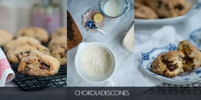 Opskrift på lækre chokolade scones