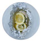 Opskrift på fisk i sølvpapir med hyldeblomst og citron