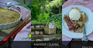 Opskrift på luksus crumble med rabarber og marcipan