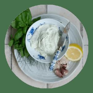 Opskrift på grøn fetacreme