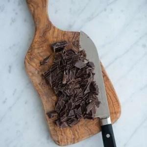 Hakket chokolade til chokolade cookies