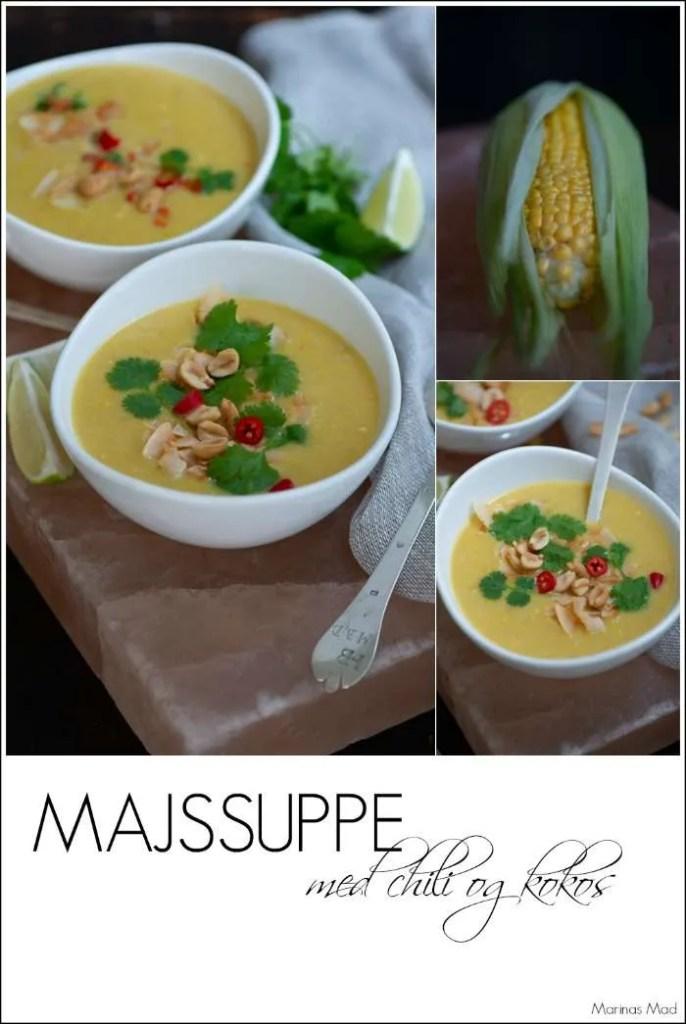 Cremet majssuppe med kokosmælk