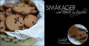 Opskrift på lakrids småkager med tranebær