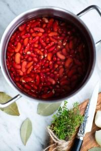 Kogning af røde kidneybønner