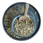 Opskrift på hjemmelavet grøn dukkah