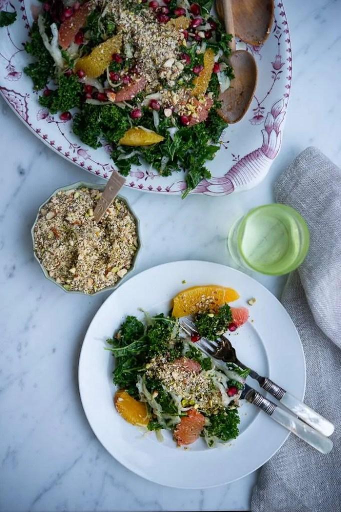 Dukkah til salat. Opskrift på grøn Dukkah fra Marinas Mad