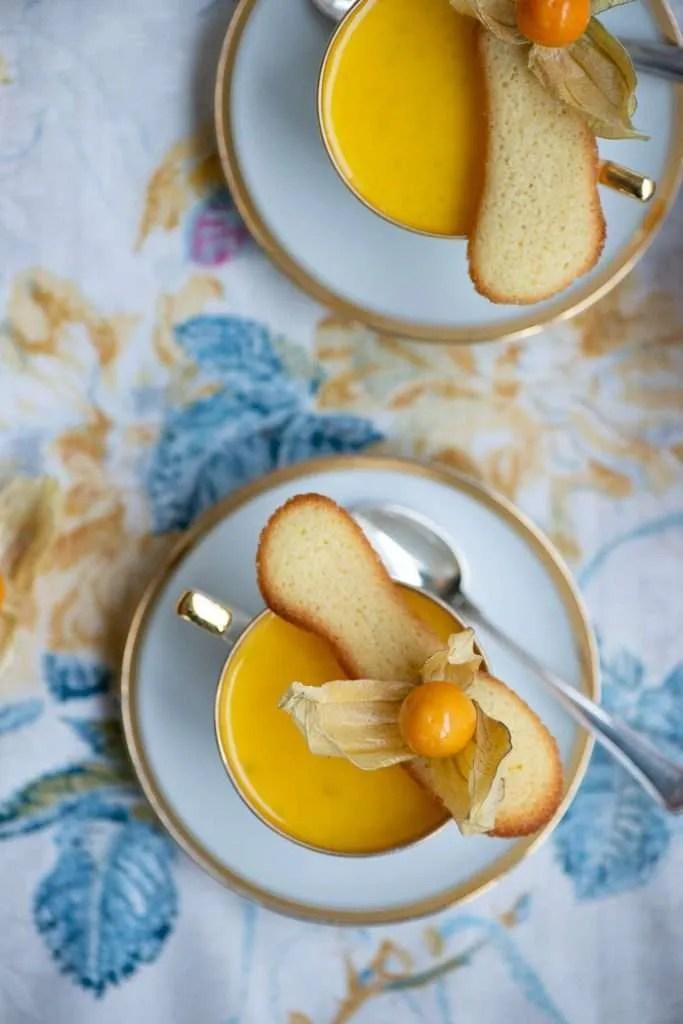 Opskrift på Panna Cotta dessert med citron og vanilje