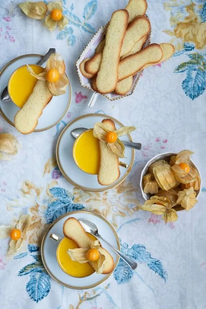 Panna cotta med vanilje, lime og citron