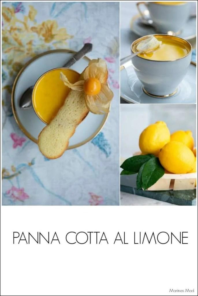 Nem og lækker panna cotta dessert med citron
