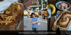 Opskrift på banankage med chokoladestykker