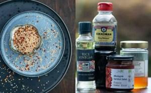 Ingredienser til spicy grillede squash