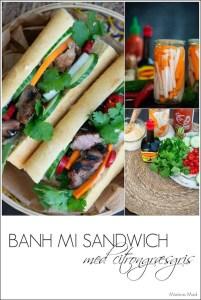 banh mi sandwich med citrongræs grillet gris