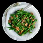 grønne bønner med valnødder opskrift