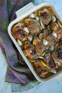 Opskrift på kyllingelår med citron, hvidløg og rosmarin