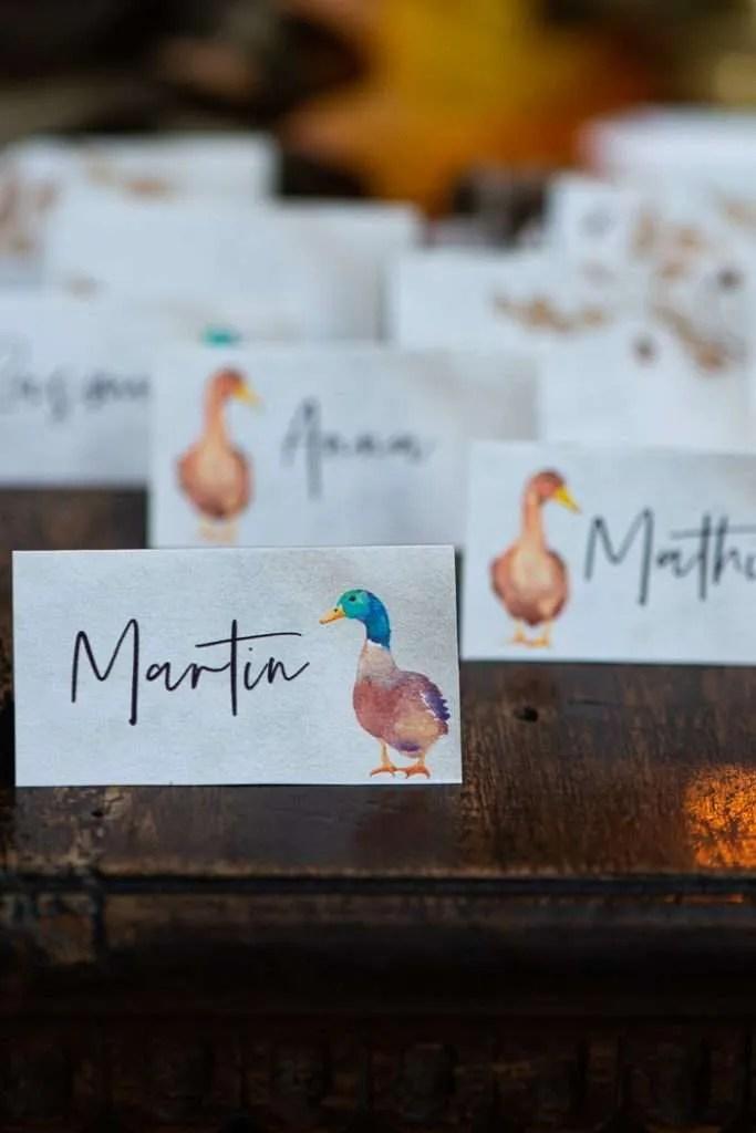 Print gratis bordkort til Mortens aften