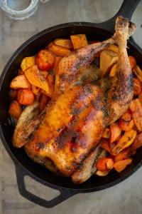 Opskrift på lækker helstegt kylling