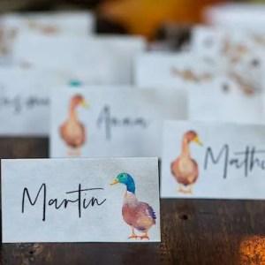 Bordkort til Mortens aften