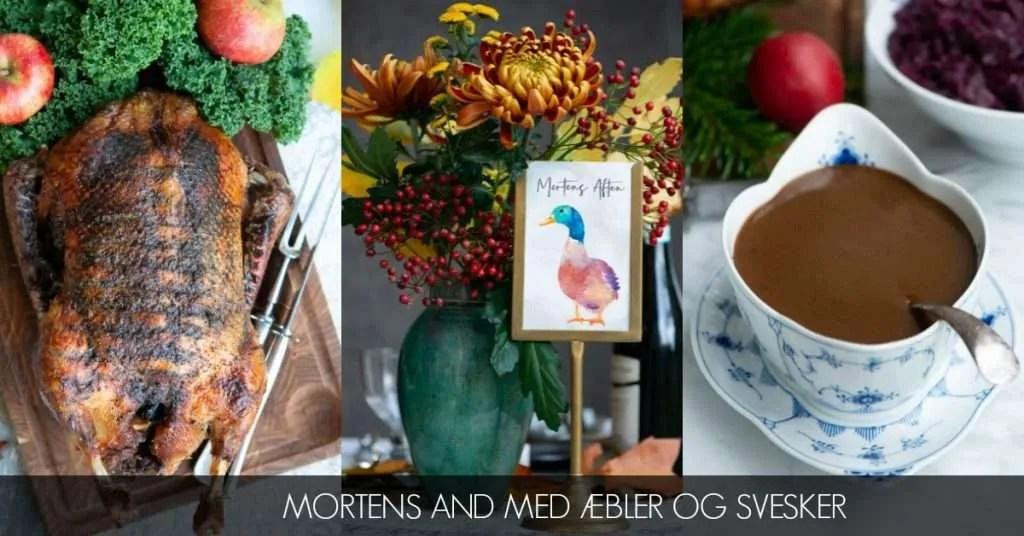 Mortens and med æbler og svesker