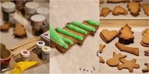 Der pyntes småkager