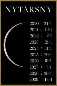 Datoer for nytårsny