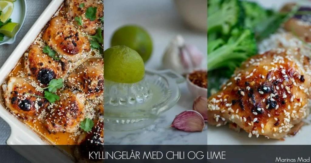 Opskrift på ovnbagte kyllingelår med chili og lime