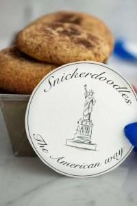 Amerikanske snickerdoodles cookies