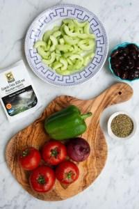 Ingredienser til ægte græsk salat