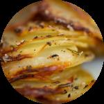 Sprøde taglagte kartofler opskrift