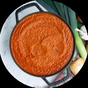 OPskrift på sund tomatsovs med masser af grøntsager