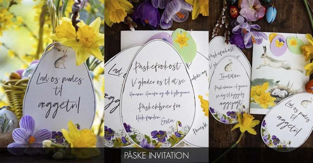 Klik for at udskrive invitationer til påske