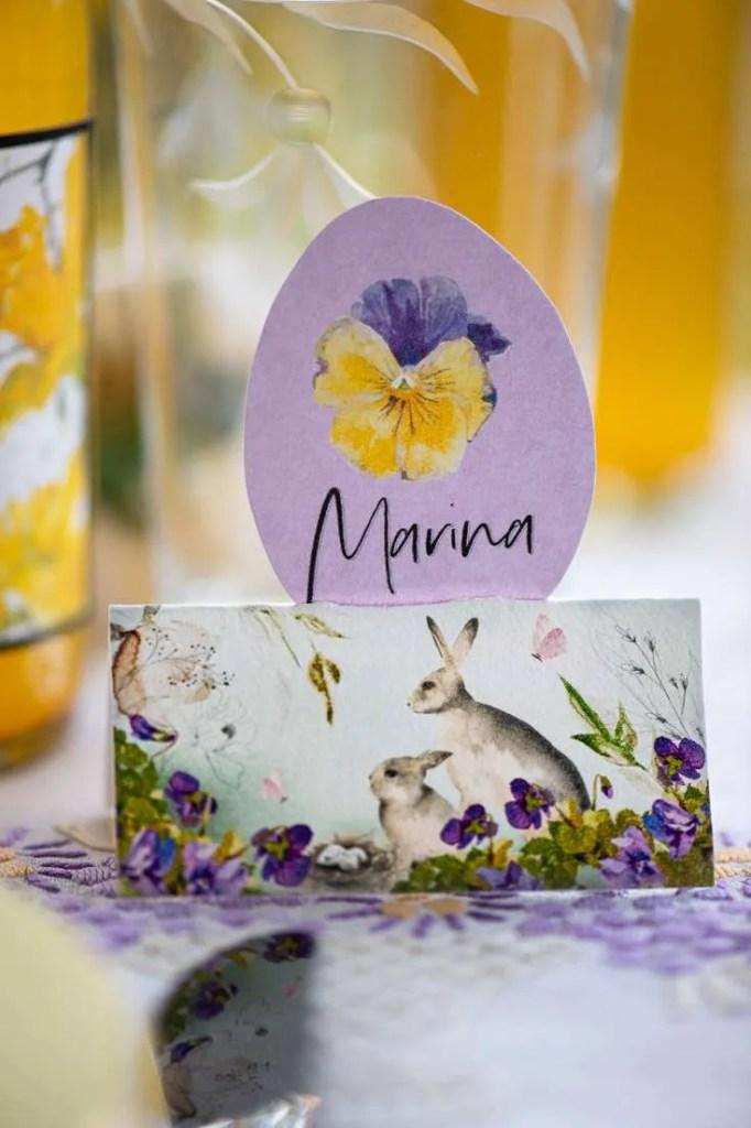 Udskriv påskebordkort