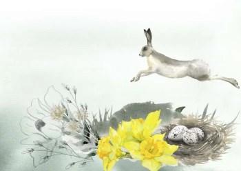 Udskriv omslag til påske invitationen