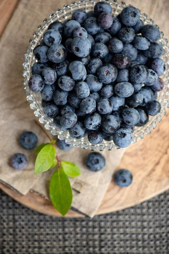 En skål blåbær